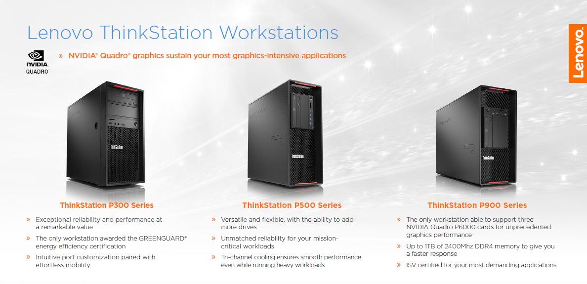 Lenovo ThinkStation Workstations