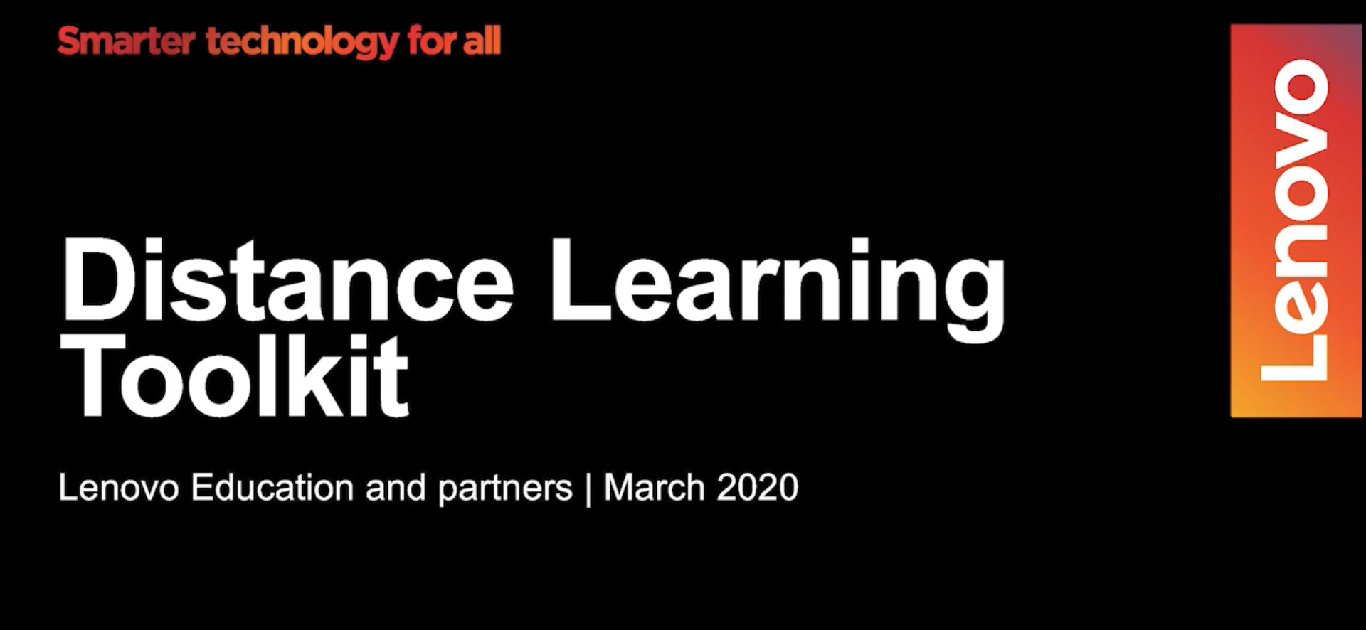 Distance Learning Toolkit from Lenovo