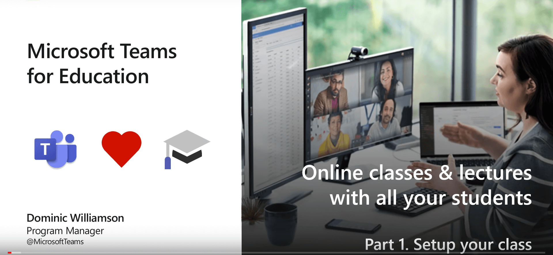 Teachers and Students using Microsoft Teams for Education