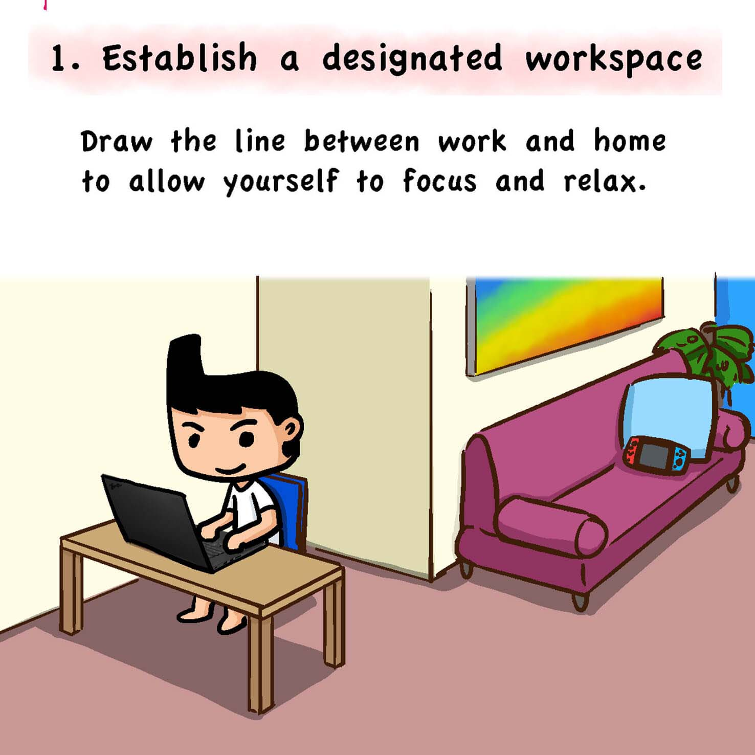 Comic Strip 1 Work From Home