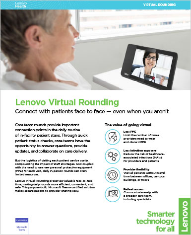 Lenovo Virtual Rounding One Pager